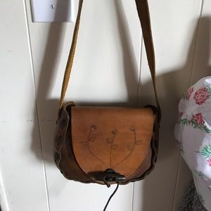 Other - Small leather boho bag